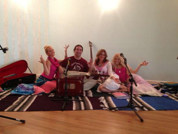 Wynne Paris, Lakshmi Devi, Felicia Rose and Lumina at Native Yoga Center